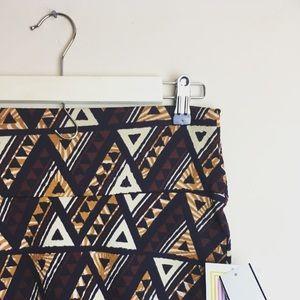 LuLaRoe NWT Cassie pencil skirt Aztec $35 Small